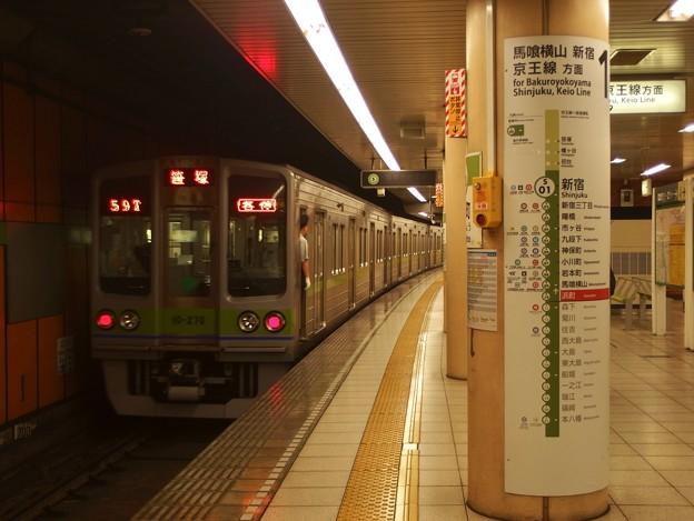 都営新宿線浜町駅1番線 都営10-270F各停笹塚行き前方確認