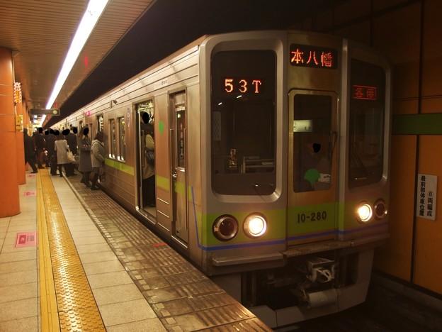都営新宿線西大島駅2番線 都営10-280F各停本八幡行き