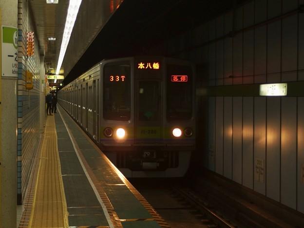 都営新宿線一之江駅2番線 都営10-280F各停本八幡行き進入
