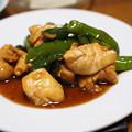 写真: 鶏むね肉とししとうの照りマヨ炒め