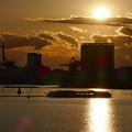 Photos: お台場の夕陽