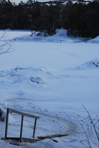 写真: Ice Fishing Spot 1-24-10