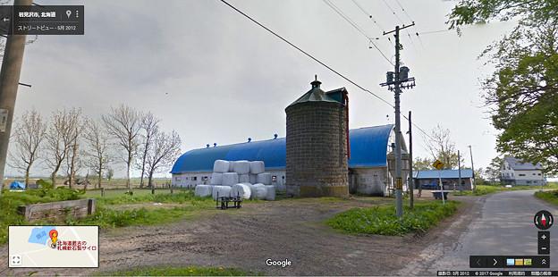 北海道最古のサイロ_Google street view