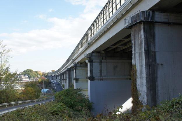 東名高速道路の陸橋