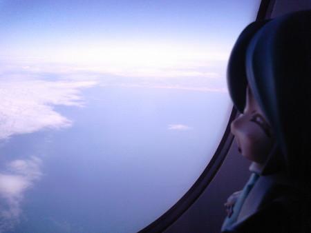 離陸後60分。高度約11,000m! 多分現在最も地表高くにいるねんどろい...