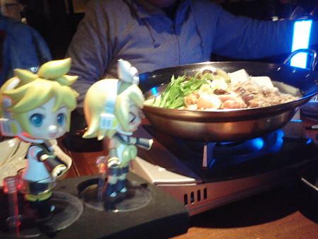 リン:「鶏鍋きたよー♪♪」