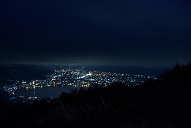 写真: 諏訪の夜景