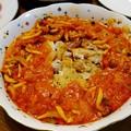 写真: 鶏もも肉のトマトソースかけ