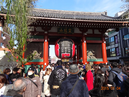 平成27年浅草寺へ初詣