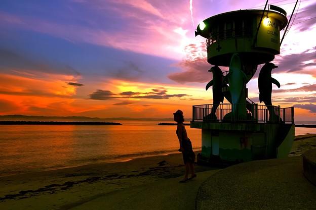 Photos: 夕焼けの海