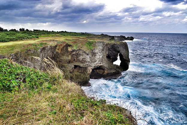 萬座毛 in Okinawa