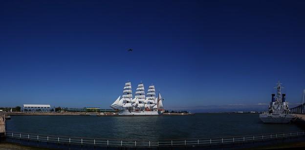 DSC_4929 パノラマ写真 海王丸総帆展帆