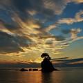 写真: IMG_0645  雨晴海岸の夜明け