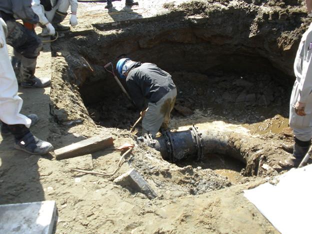 液状化による水道管の被害