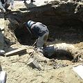 Photos: 液状化による水道管の被害