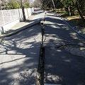 Photos: 液状化による道路の被害
