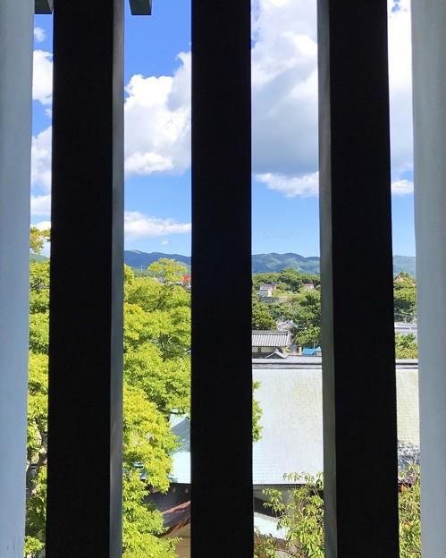 松前城の窓から