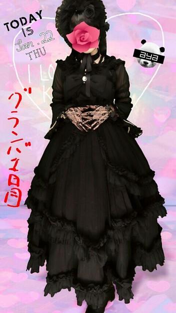 Photos: 今日のお出かけで着た服。メタモのphantomコーデヽ(・∀・)ノ フルセットで着たけど凄くゴージャスだった(*´ω`*)