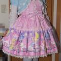 Photos: 今日のお出かけで着た服。珍しくプリティでコーデ。福袋のお洋服らしいんだけど、バラ売りされてセールになってた。めっちゃ可愛いね~(*´ω`*) JSKが\5,000+カチューシャが\1,000(笑)