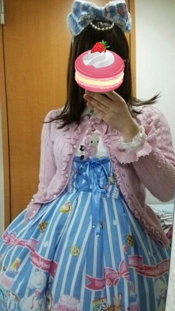 今日のお出かけで着た服。メタモのPatissiere Dreamコーデヽ(・∀・)ノ