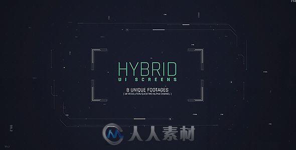 炫酷科技感混合UI屏幕展示幻灯片AE模板 Videohive Hybrid Ui Screens