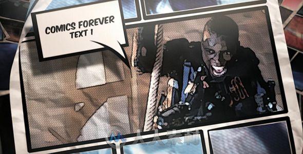 史诗炫酷漫画效果影视片头视频包装AE模板 Videohive Comics Forever