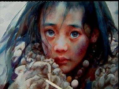 爱轩《油画技法-西藏女孩》视频教程