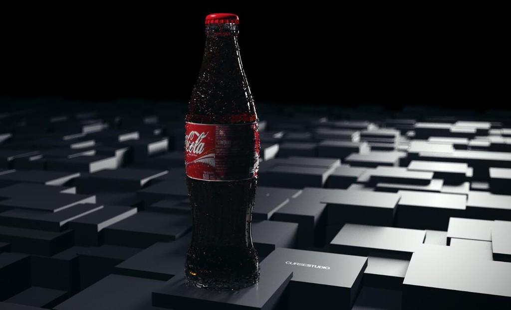 C4D可口可乐建模渲染教程