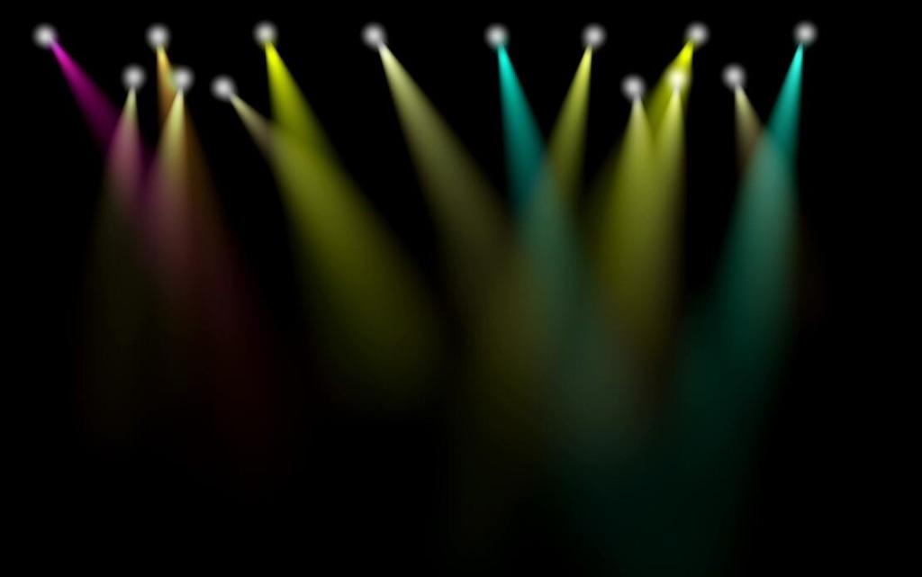 彩色灯光舞台装饰视频素材(lights Stage)