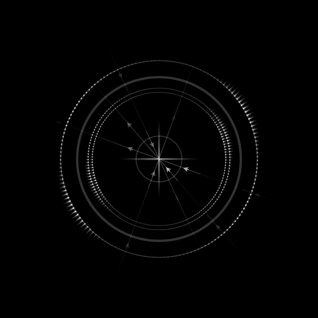 科技感罗盘式圆形箭头动态视频素材(circular arrows)