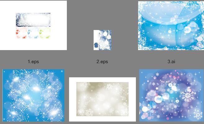 蓝色梦幻星光背景矢量素材