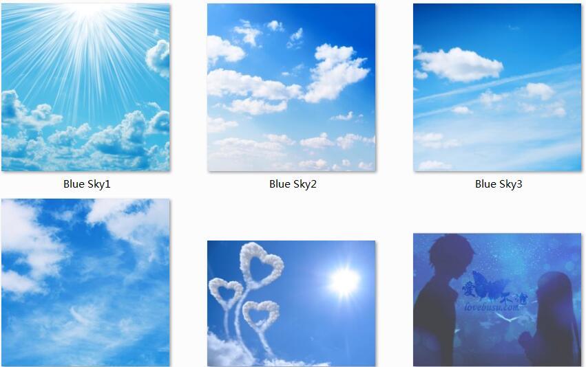 6张蓝天白云高清图片素材