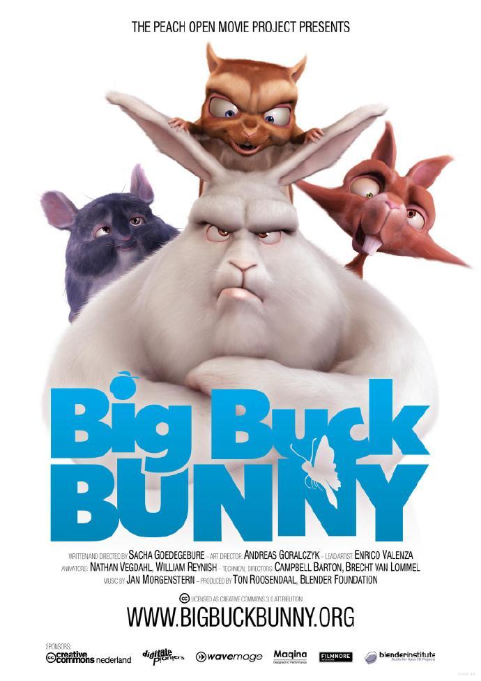 肥兔子邦尼 Big Buck Bunny(2008年 荷兰)