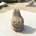 うさぎの彫刻 森の動物たち 岡崎SA