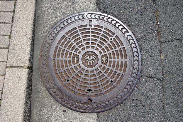 s5919_堺市マンホール_下水_同心円_>囲み