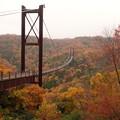 写真: 吊り橋280m高さ50m