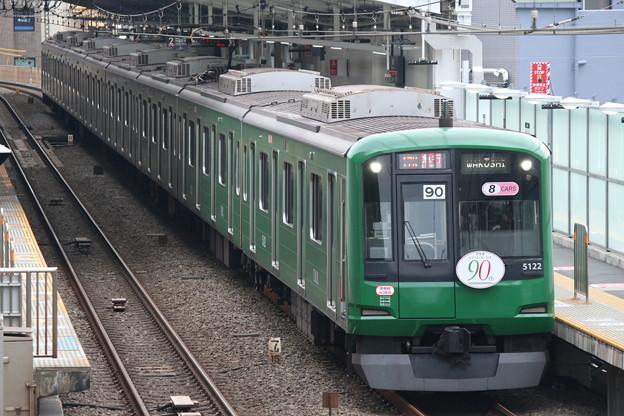 東横線5000系 5122F(青ガエル)