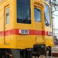 写真: 東武本線8000系 8575F(黄色) 普通 業平橋表示