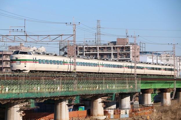 写真: 189系 M52編成(グレードアップあずさ色) 富士山梨号