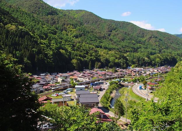 奈良井宿と特急しなの