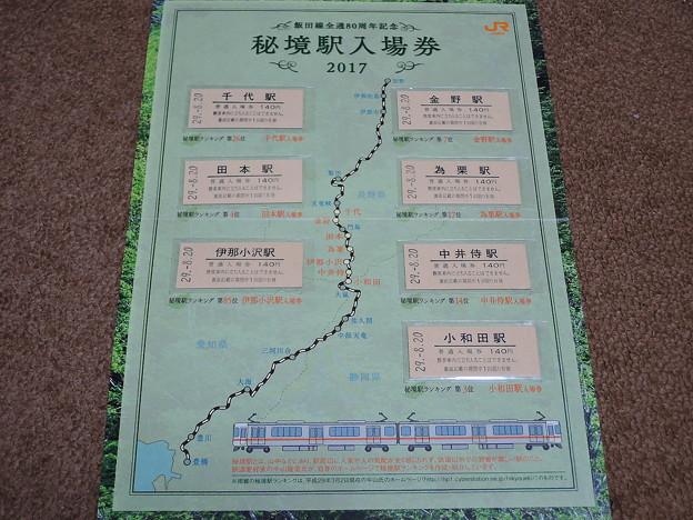 飯田線80周年記念秘境駅入場券