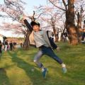 写真: 春天的跳躍