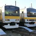 E231系と209系総武線