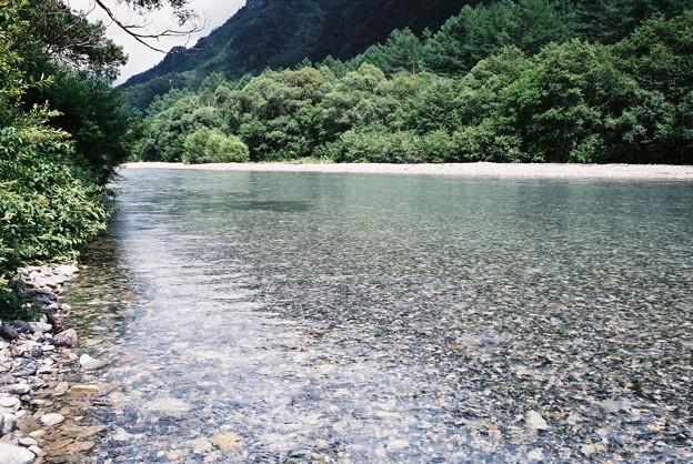 上高地の綺麗な川 フィルムカメラ
