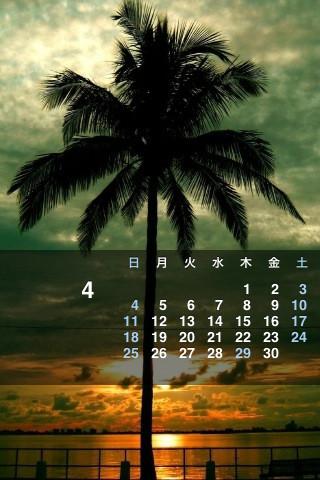 iPhone用カレンダー2010年4月