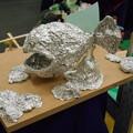 Photos: 小学5年生の銀紙作品