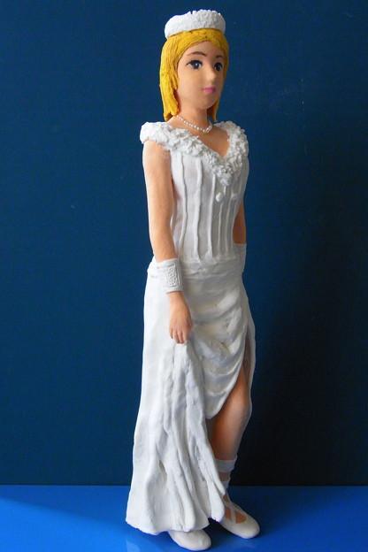 紙粘土人形 オリンポス女神
