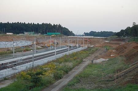 成田空港線工事の様子(2008/10/13)