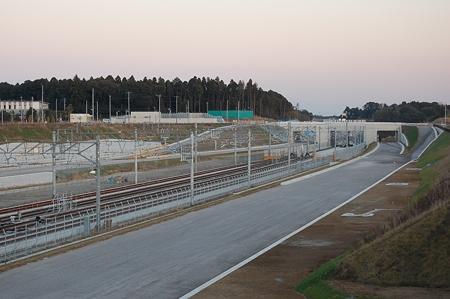 成田空港線工事の様子(2010/01/02)