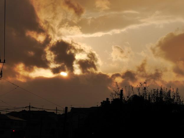 雨上がりの夕陽2